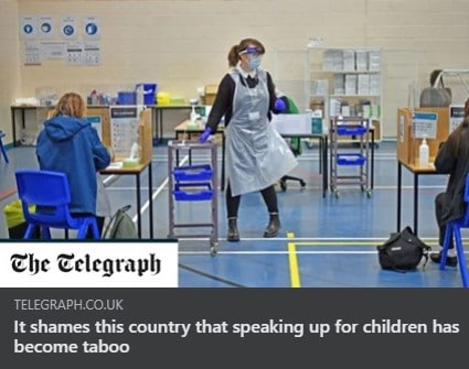 It shames this country that speaking up for children has become taboo