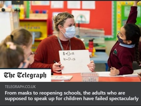 From masks to reopening schools, the adults who are supposed to speak up for children have failed spectacularly