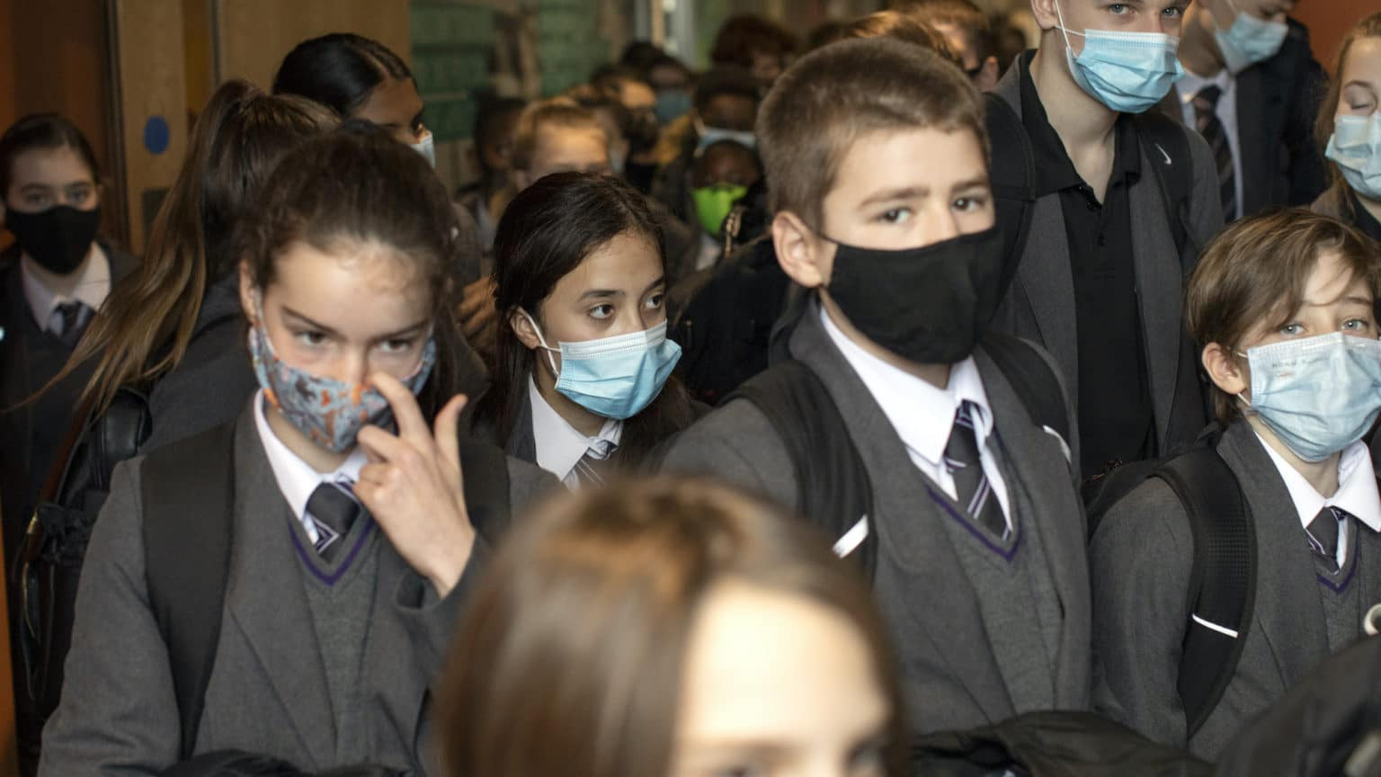 Why are children still forced to wear face masks?