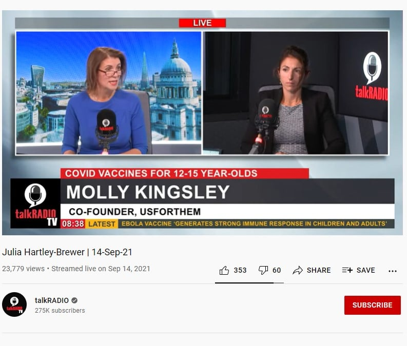 Molly Kingsley Interview by Julia Hartley Brewer 14 Sept 21 @ 2: 02: 20
